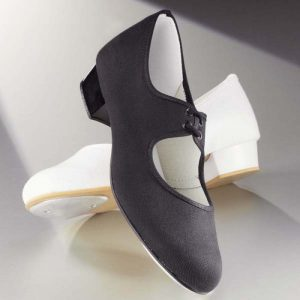 Canvas Tap Shoes in Black or White